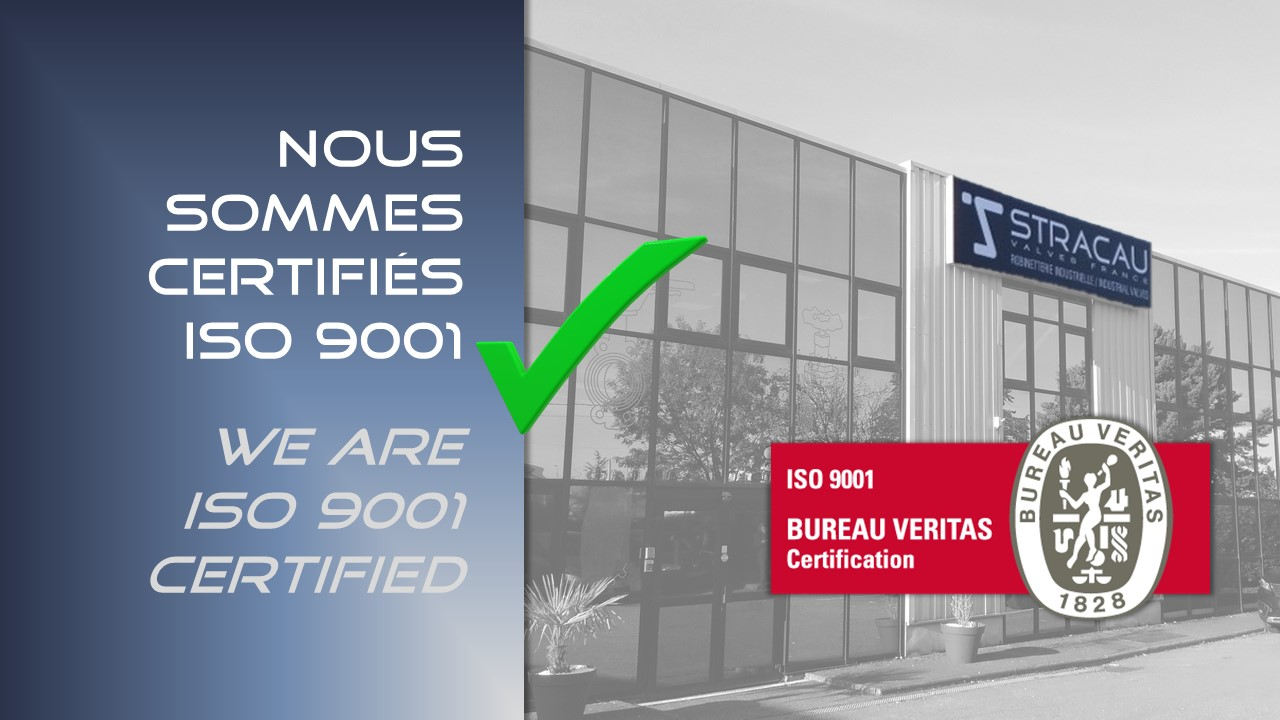 We are now ISO 9001 certified !