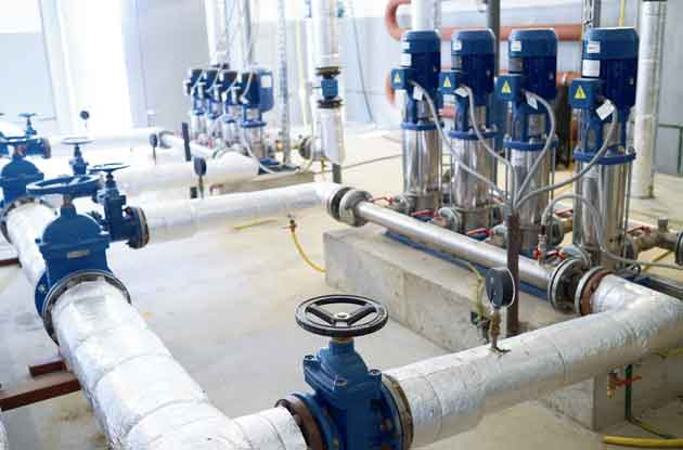 Water pumping plant